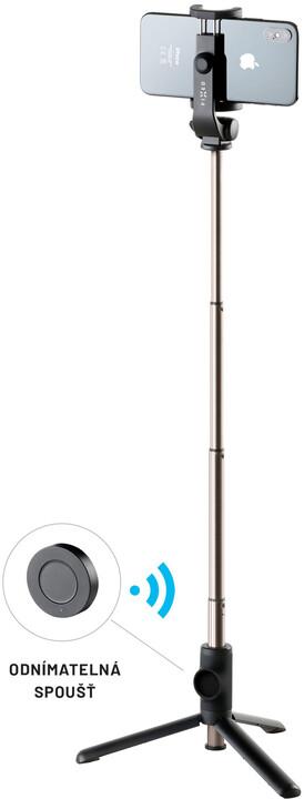 """FIXED selfie tyč Snap s tripodem, bezdrátová spoušť, 3/4"""" závit, černá"""