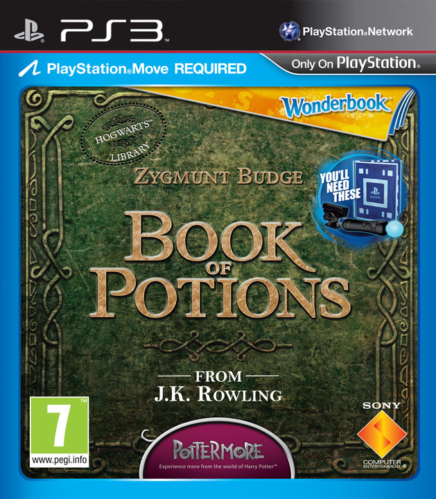 Wonderbook: Book of Potions (CZ) + Move Pack - PS3