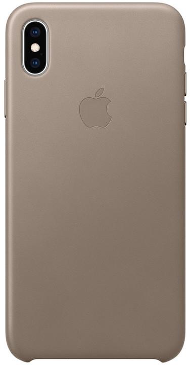 Apple kožený kryt na iPhone XS Max, kouřová