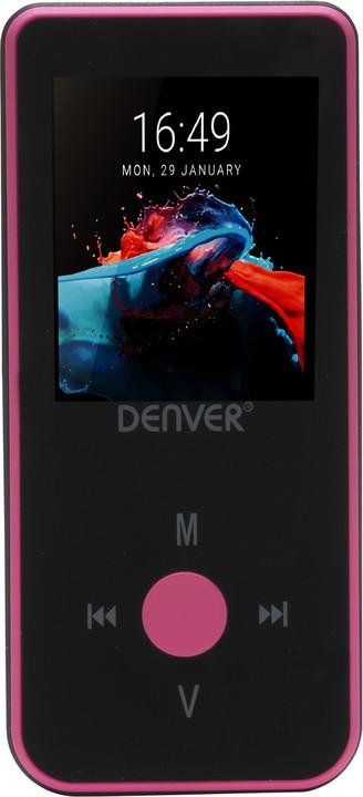 Denver MPG-4084BT, 4GB, růžová