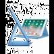 """CellularLine Pouzdro se stojánkem FOLIO pro Apple iPad Pro 10,5"""", modré"""