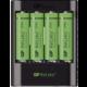GP U421 nabíječka + 4x AA Recyko+ 2700, USB, 40min.