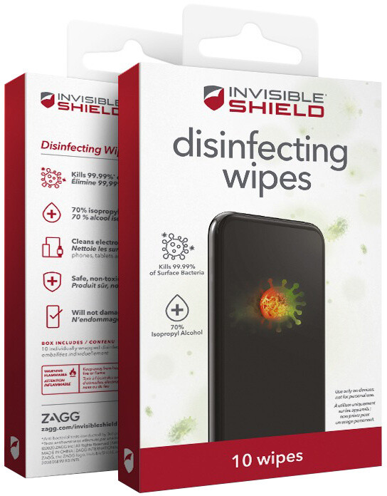 InvisibleShield Antimikrobiální vlhčené ubrousky 10ks