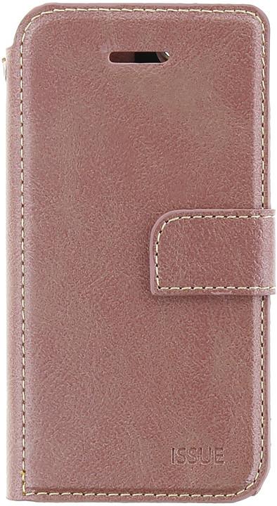 Molan Cano Issue Book pouzdro pro iPhone X, růžově zlatá
