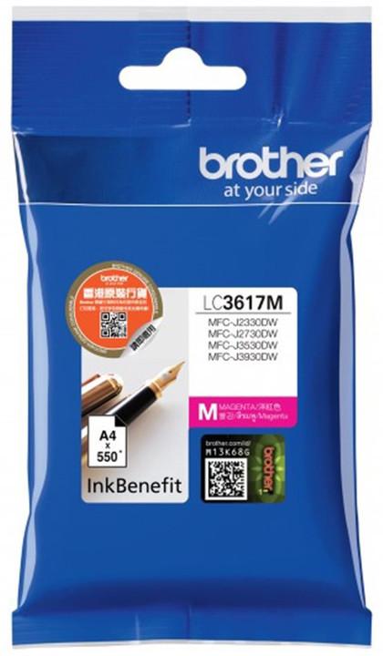 Brother LC3617M, červený