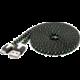 PremiumCord kabel micro USB 2.0, A-B 2m, plochý textilní kabel, černo-modro-žlutá