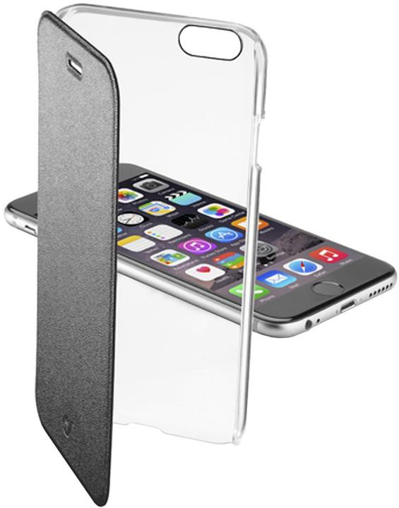 CellularLine Clear Book průhledné pouzdro pro Apple iPhone 6, černá