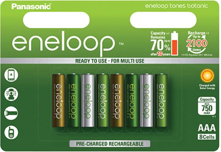 Panasonic Eneloop HR03 AAA 4MCCE/8RE 750mAh Botanic pack