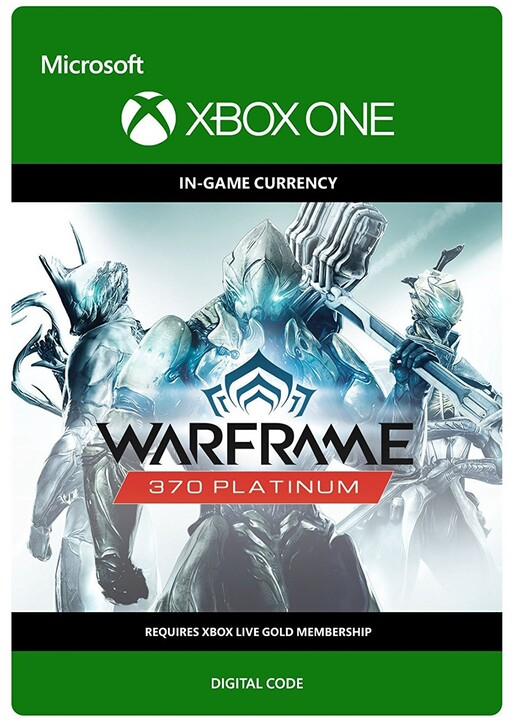 Warframe - 370 Platinum (Xbox ONE) - elektronicky