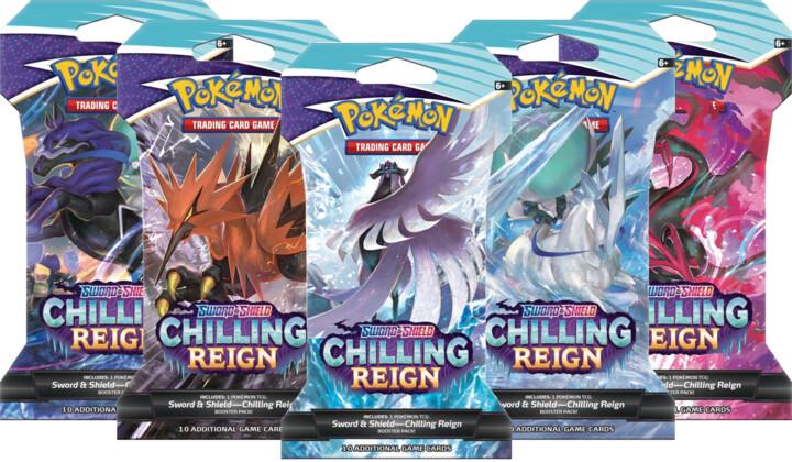 Karetní hra Pokémon TCG: Sword and Shield Chilling Reign - Booster, blister