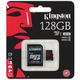 Kingston Micro SDXC 128GB Class 10 UHS-I U3 + SD adaptér