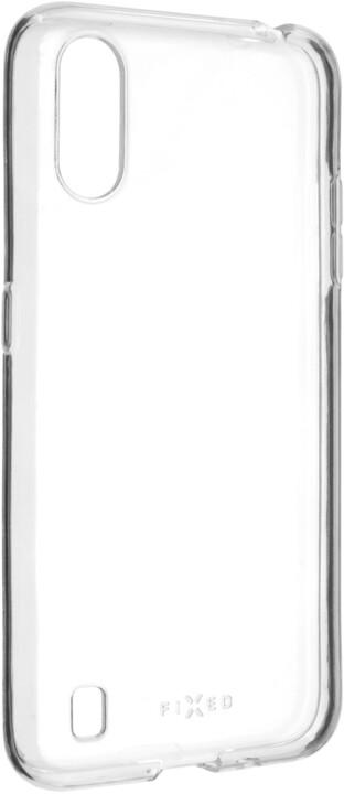 FIXED ultratenké TPU gelové pouzdro Skin pro Samsung Galaxy A01, 0.6 mm, čirá