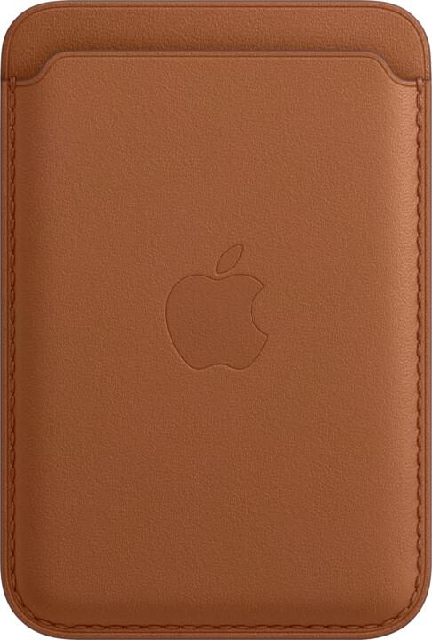 Apple kožená peněženka s MagSafe pro iPhone, hnědá