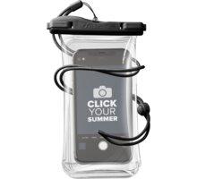CellularLine vodotěsné pouzdro pro mobilní telefony, univerzální, IPX8, černá - VOYAGER20K