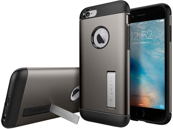 Spigen Slim Armor ochranný kryt pro iPhone 6/6s, gunmetal