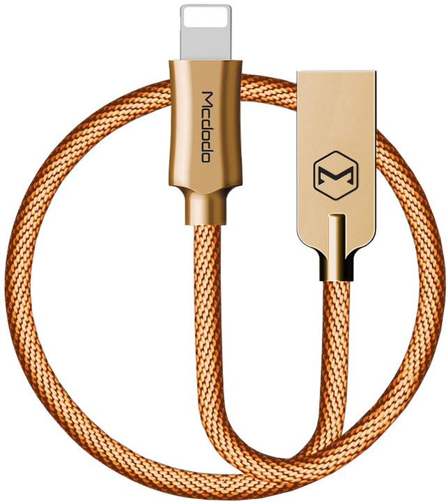 Mcdodo Knight datový kabel Lightning, 1.2m, zlatá