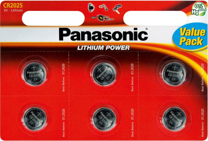 Panasonic baterie CR-2025 6BP Li
