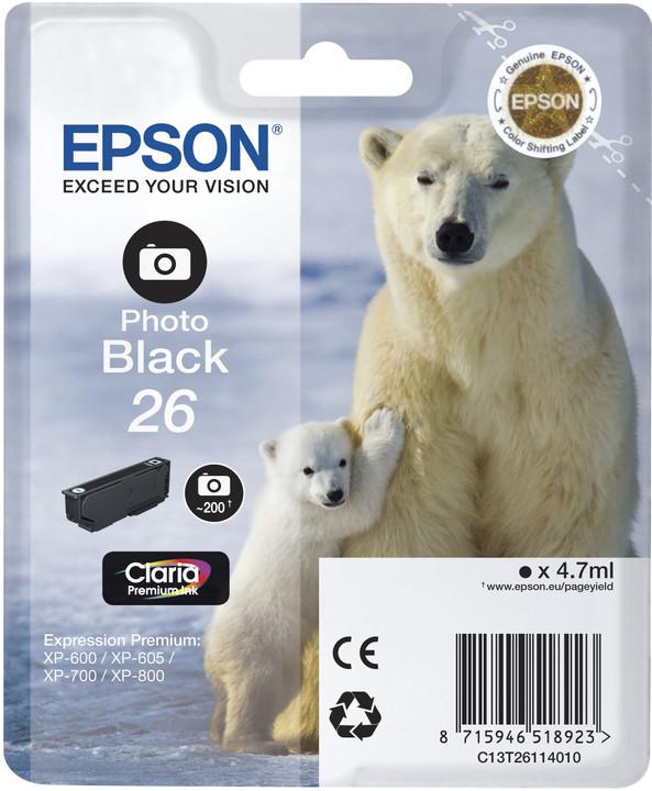 Epson C13T26114010, photo černá