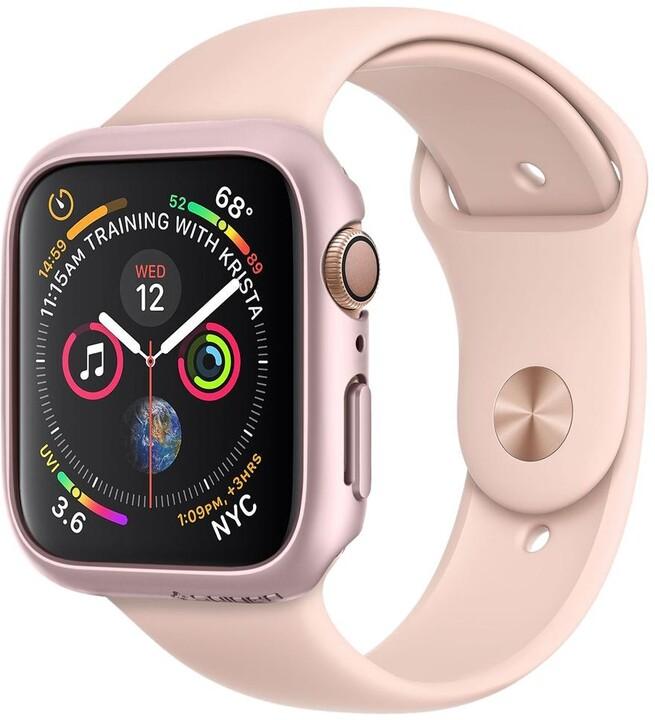 Spigen Thin Fit Apple Watch 4 44mm, růžovo/zlatá