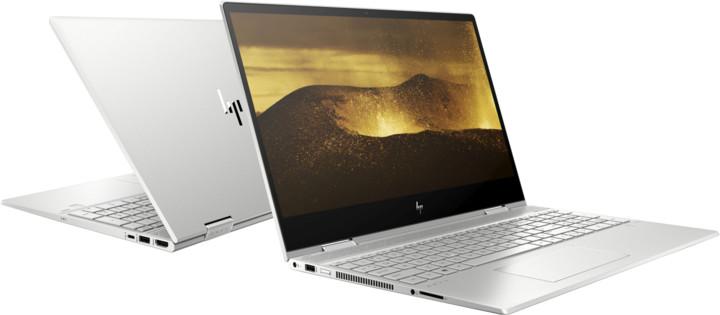 HP Envy x360 15-dr0006nc, stříbrná