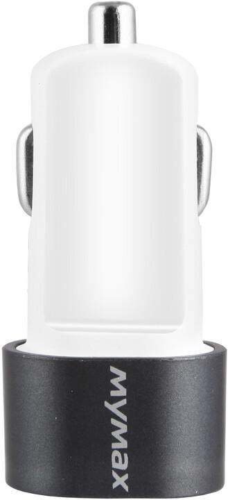 iMyMax Bullet Car Charger 3,1A, šedá