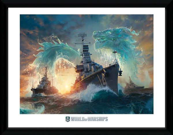 Zarámovaný plakát World of Warships - Dragons