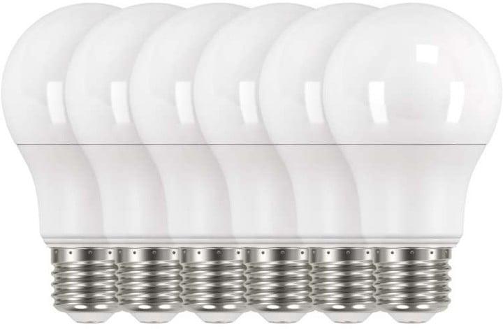Emos LED žárovka Classic A60 9W E27, 6ks, teplá bílá