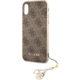 GUESS Charms Hard Case 4G pro iPhone Xr, hnědé