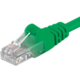 PremiumCord Patch kabel UTP RJ45-RJ45 level 5e, 3m, zelená