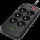 COLORWAY prodlužovací napájecí přívod/ 6x Schuko/ 4x USB 5V, 2m