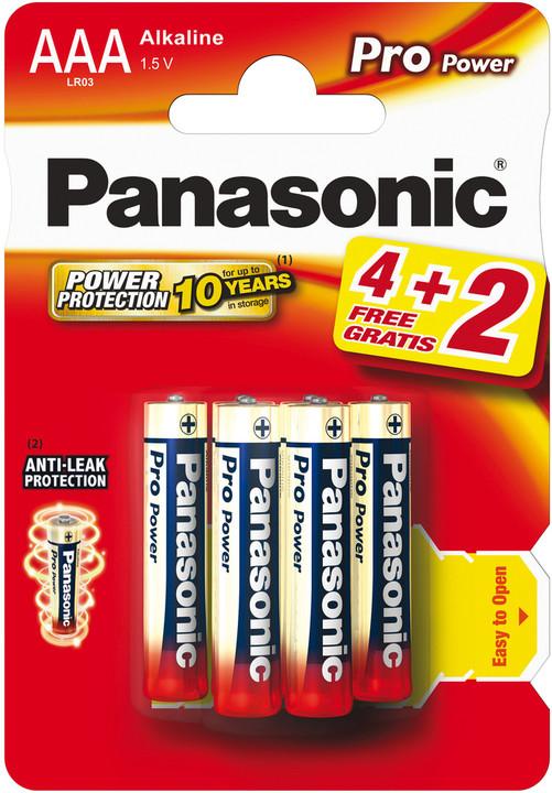 Panasonic baterie LR03 6BP AAA Pro Power alk