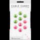 Cable Candy kabelový organizér Small Beans, 10 ks, zelená a růžová
