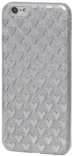 EPICO pružný plastový kryt pro iPhone 6/6S SILVER HEARTS