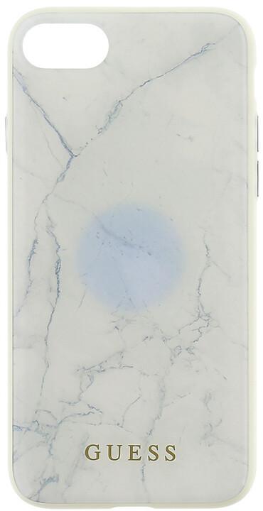 GUESS Marble TPU pouzdro pro iPhone 7/8, White
