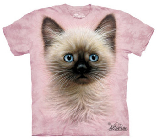 Tričko The Mountain Black & Tan Kitten, růžová (US XL / EU XXL)