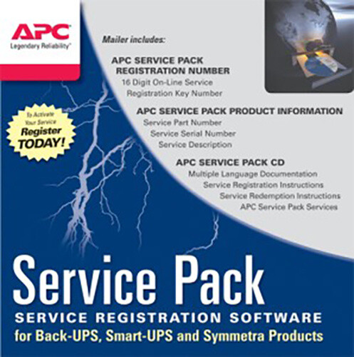 APC Service Pack - 1 rok prodloužené záruky pro současný prodej s novou UPS SP-08 - elektronická