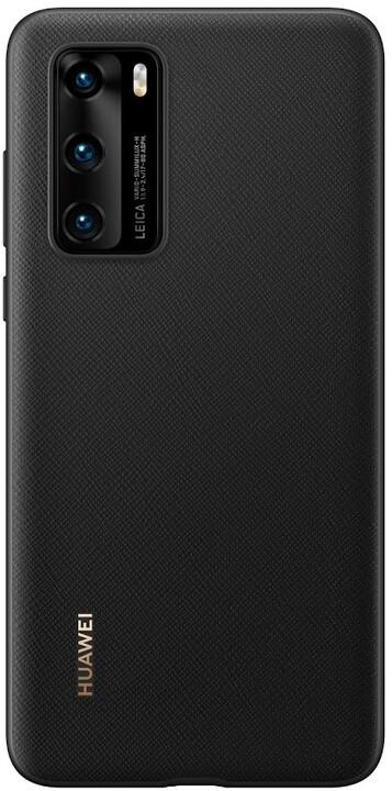 Huawei Original PU pouzdro pro P40, černá