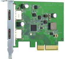 QNAP QXP-10G2U3A - dvouportová USB 3.2 Gen2