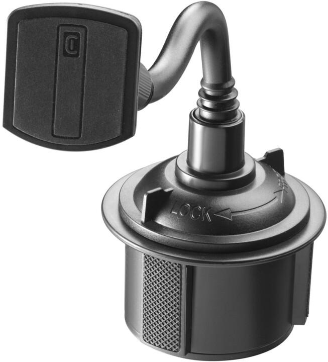 Cellularline držák do auta Touch Cup Holder, do držáku nápojů, magnetický, černá