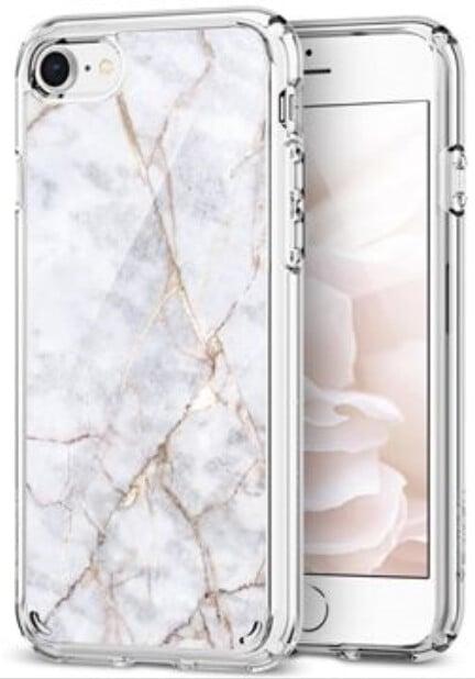 Spigen Ultra Hybrid 2 Marble iPhone 7/8, bílá
