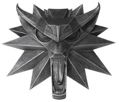 Nástěnný medailon Zaklínač - Vlk