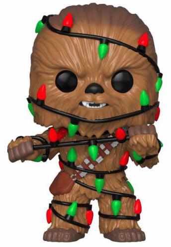 Figurka Funko POP! Bobble-Head Star Wars - Holiday Chewbacca with Lights
