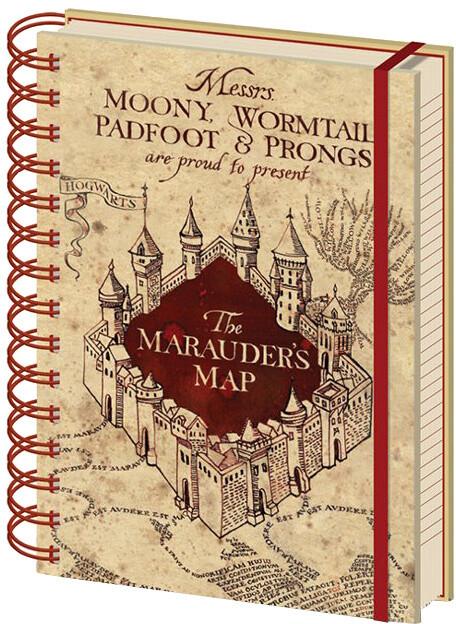 Zápisník Harry Potter - The Marauders Map , kroužková vazba (A5)