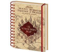 Zápisník Harry Potter - The Marauders Map , kroužková vazba (A5) - SR72325
