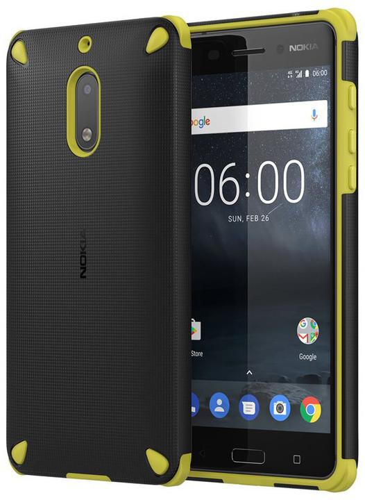 Nokia Rugged Impact Case (pouzdro) CC-501 for Nokia 6, černo- žlutá