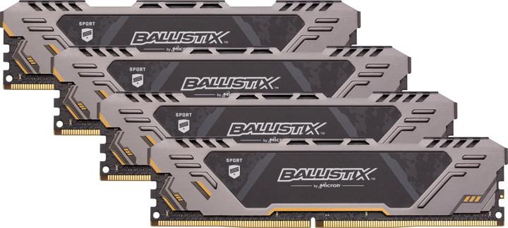 Crucial Ballistix Sport AT 64GB (4x16GB) DDR4 3200
