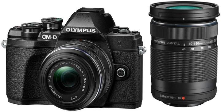 Olympus E-M10 Mark III + 14-42mm II R + 40-150mm R, černá