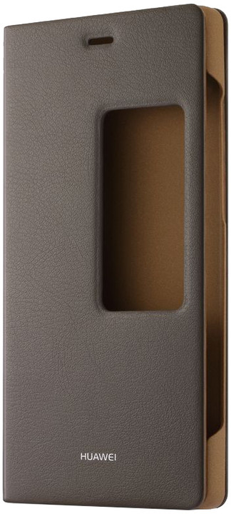 Huawei Original S-View Pouzdro Brown pro P8 (EU Blister)