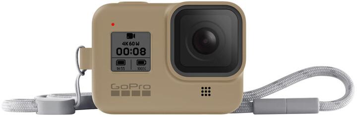 GoPro Sleeve + Lanyard (HERO8 Black) pískový