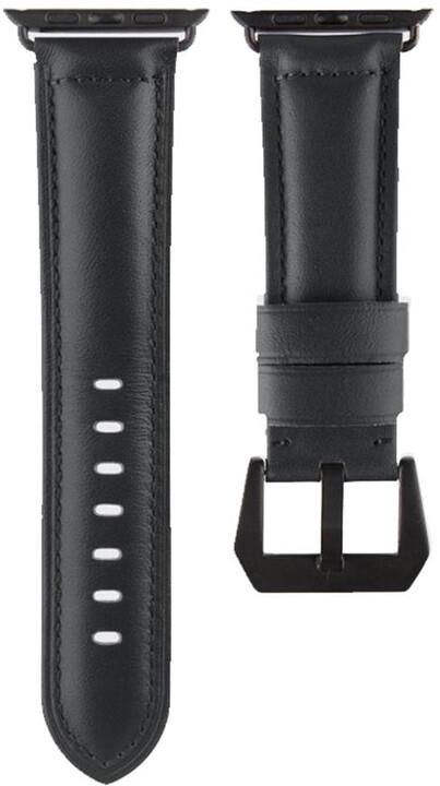 UNIQ Kronos Duffle pro Apple Watch 42mm Geniune Leather, černá